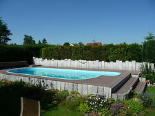 WPC Terrassen Dielen Diele Pool Holz Poolumrandung Barfußdiele Steg Zubehör