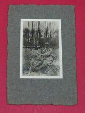 RARE PHOTO GUERRE 14-18 INFANTERIE POILU MITRAILLEUSE ST ETIENNE MODELE 1907