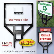 18x24 Real Estate Sign Frame **BLACK** 25-Pack Yard Sign Frames for Realtors