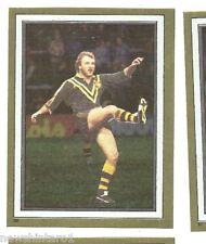1983 RUGBY LEAGUE GOLD FOIL STICKER #88 WALLY LEWIS