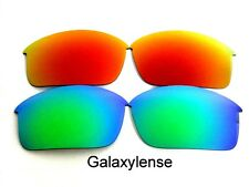 Galaxy Replacement Lenses For Oakley Bottle Rocket Green&Red Polarized 2Pair