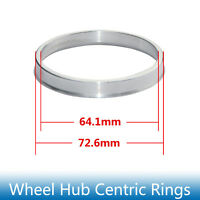 4pcs Hub Centric Rings 72.6mm to 64.1mm Alloy Aluminum Hubrings