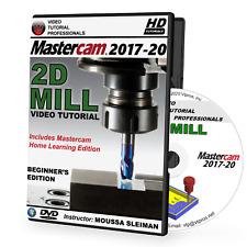 Mastercam 2017-2020 2D Mill Beginner Video Tutorial Training Course (2018, 2019)