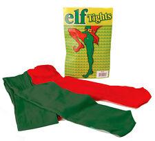 FEMMES HOMMES ELFE collant rouge vert médiéval BOUFFON Déguisement NOUVEAU OS