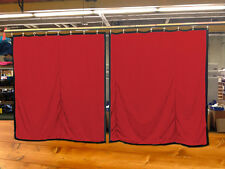Lot of (2) Red Curtain/Stage Backdrop, Non-FR, 12 H x 11 W