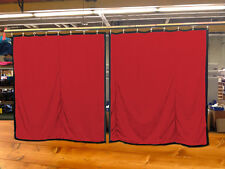 Lot of (2) New!! Red Curtain/Stage Backdrop, Non-FR, 12 H x 11 W