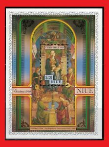 ZAYIX -  1988 Niue 583 MNH - Virgin and Child Enthroned by Cosimo Tura