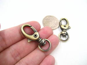 2ps small Bag Clasps Lobster Swivel Trigger Clip Snap Hook DIY bag hook supplies