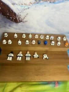 LEGO STAR WARS minifigure 20 HELMET PARTS LOT CLONE TROOPER STORMTROOPER
