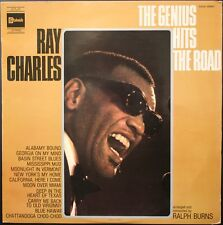 RAY CHARLES THE GENIUS HITS THE ROAD 33T LP STATESIDE SSSX 340.841 + LANGUETTE