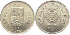 PORTUGAL - GOA (Portugiesisch Indien) 1/2 Rupia 1936, K.M 23