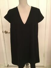 Tobi Black Short SleeveShift Dress Size M (NWT)