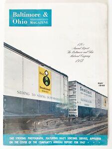 Baltimore And Ohio Railroad Magazine May 1948