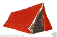 Insulated Emergency Tube Tent Solar Orange Mylar Survival Camping Shelter Tarp
