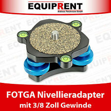 FOTGA Nivellieradapter mit Wasserwaage für Fotostativ und Videostativ (EQ211)
