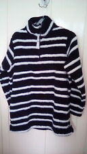 BNWT - Yours Clothing - navy blue & White striped soft fleece, size 18