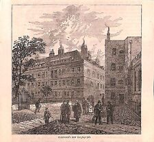 Inns of Court.Clifford's Inn.Legal London.1879.Old and New London.Antique print