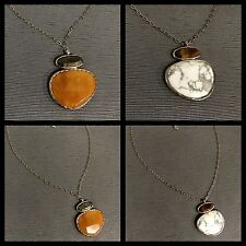 """SILPADA Sterling Silver """"Day And Night"""" Reversible Pendant Necklace"""