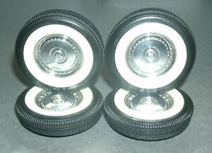 1/18 Scale Firestone Whitewall Tire Set with Four 1950's Ford TBird Wheel Covers
