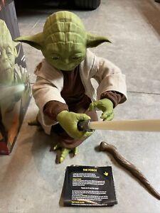 "16"" Star Wars Legendary Jedi Master Yoda Action Figurez With Box Complete"