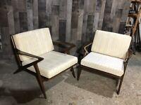 Pair of Mid-Century Danish Modern Poul Jensen Selig Z Lounge Chairs