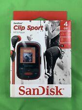 SanDisk Clip Sport Red (4gb) Digital Media Player MP3 micro sd slot