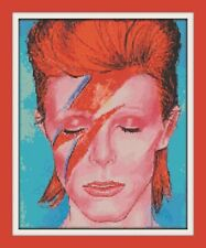 DAVID BOWIE ZIGGY CROSS STITCH CHART 12.0 x 9.7 Inches