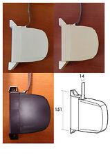 Recogedor abatible de persiana mini, cinta 14 mm, blind, tirador, varios colores