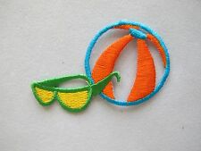 "#4226 2-1/2"" Beach Ball,Sunglass Embroidery Iron On Applique Patch"