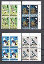 SEYCHELLES 1972 Sg 308/13 MNH Blocks of 4 Cat £68