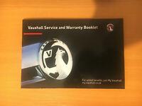 Vauxhall ADAM Service Book New Blank Genuine