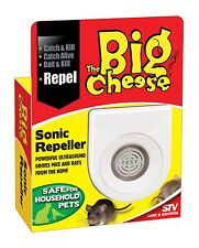 STV717 Sonic Mouse Rat Mice Repeller Deterrent Repellent Big Cheese