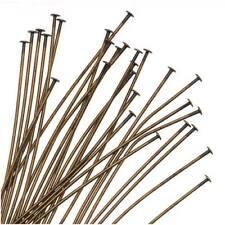 Antiqued Brass Head Pins 1.5 Inch / 22 Gauge (X50)