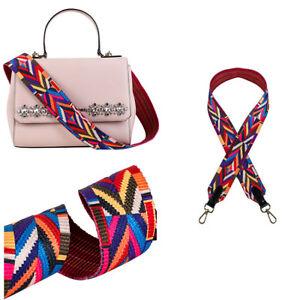 Neu Trend Taschengurt Bunt Schulterriemen für Handtaschen Taschen Verstellbar