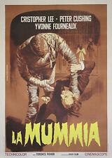 """""""LA MALEDICTION DES PHARAONS (THE MUMMY) """" Affiche originale italienne entoilée"""