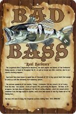 Bad Bass Parking Sign Wall Plaque Gifts Men Fishing Fishermen Fish Outdoor Safe