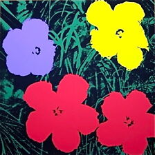 Flowers #73 (Sunday B. Morning), Silkscreen, Andy Warhol - with COA