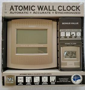 WWVB La Crosse Technology Atomic Wall Clock WS6002U Plus Alarm Clock WT2171 NOS