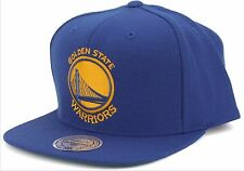 Golden State Warriors Mitchell & Ness Blue Current Solid Wool Snapback Hat NBA