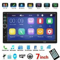 "Double 2 DIN 7"" Car Stereo Touch Screen MP5 Player BT AUX USB TF Radio Head Unit"