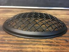 "Black 7"" stone guard rock Wire mesh headlight cover motorcycle universal"