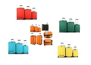 4 Wheel Spinner Hard Shell Suitcase Luggage Cabin Travel Trolley Case Bags