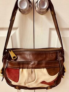 New Fossil  Handbag Leather and Suede Fifty Four Top End Fossil Purse