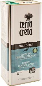 Terra Creta Extra Natives Olivenöl Kreta 5 liter Kanister Säuregehalt 0,34 %-