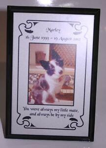 15 X 10cm Personalised Indoor Pet Memorial Plaque