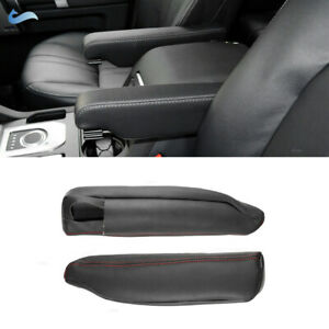 For Land Rover Discovery3 4 Range Rover sport Seat Armrest Cover Black Leather