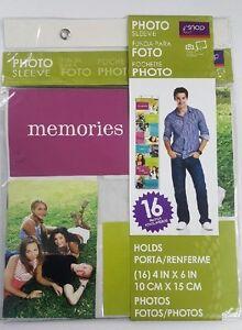 "Hanging Photo Sleeve Holds (16) 4"" x 6"" Photos"