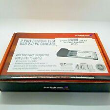 StarTech Cbusb22 2 Port CardBus Laptop Usb 2.0 Pc Card Adapter