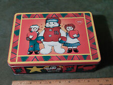 Snowden and Friends - Raggedy Ann & Andy (METAL TIN) 1998 (FREE SHIP.) Ltd.