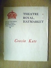Theatre Royal Programme- Cyril Maude in COUSIN KATE & SHADES OF NIGHT